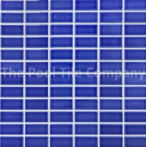 CM103 Capri Blue ceramic mosaic pool tile