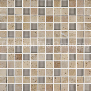 GCR300 Marble glass mix light mosaic tiles