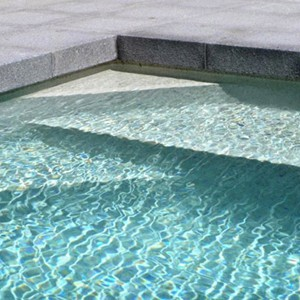 Dark Grey Granite Pool Pavers and Coping