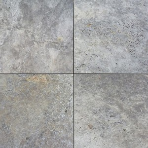 Silver Travertine Tumbled Unfilled Tile