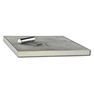 Travertine Silver Tumbled Unfilled pool skimmer box cover lid