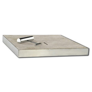 Walnut Travertine Tumbled Unfilled pool skimmer box cover lid