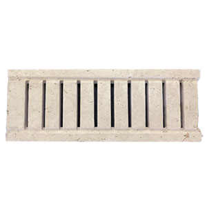 Travertine Linen Tumbled Unfilled Grate