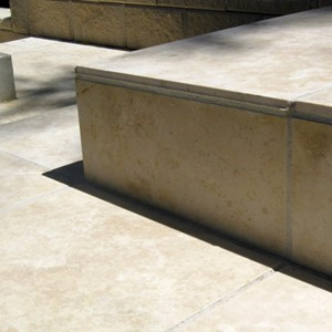 Travertine Linen Honed Filled Stairs