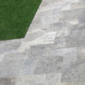 Travertine Silver French Pattern