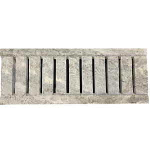Travertine Silver Tumbled Unfilled Grate