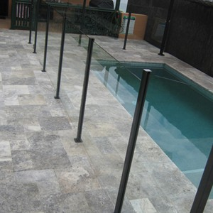 Travertine Silver (Platinum) Pool Tiles