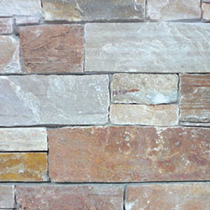 Rustic Almond Stacked Stone Panel