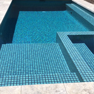 CMC320 Bali 48mm ceramic tiles shown in place