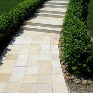 Himalayan Sandstone used for paving outdoor areas and for stairs
