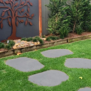 Large Basalt Stepping stone 600mm x 30mm